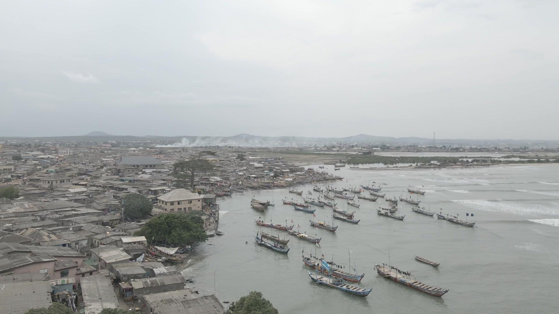 Town Settlement Boats Fishing Port Orbit