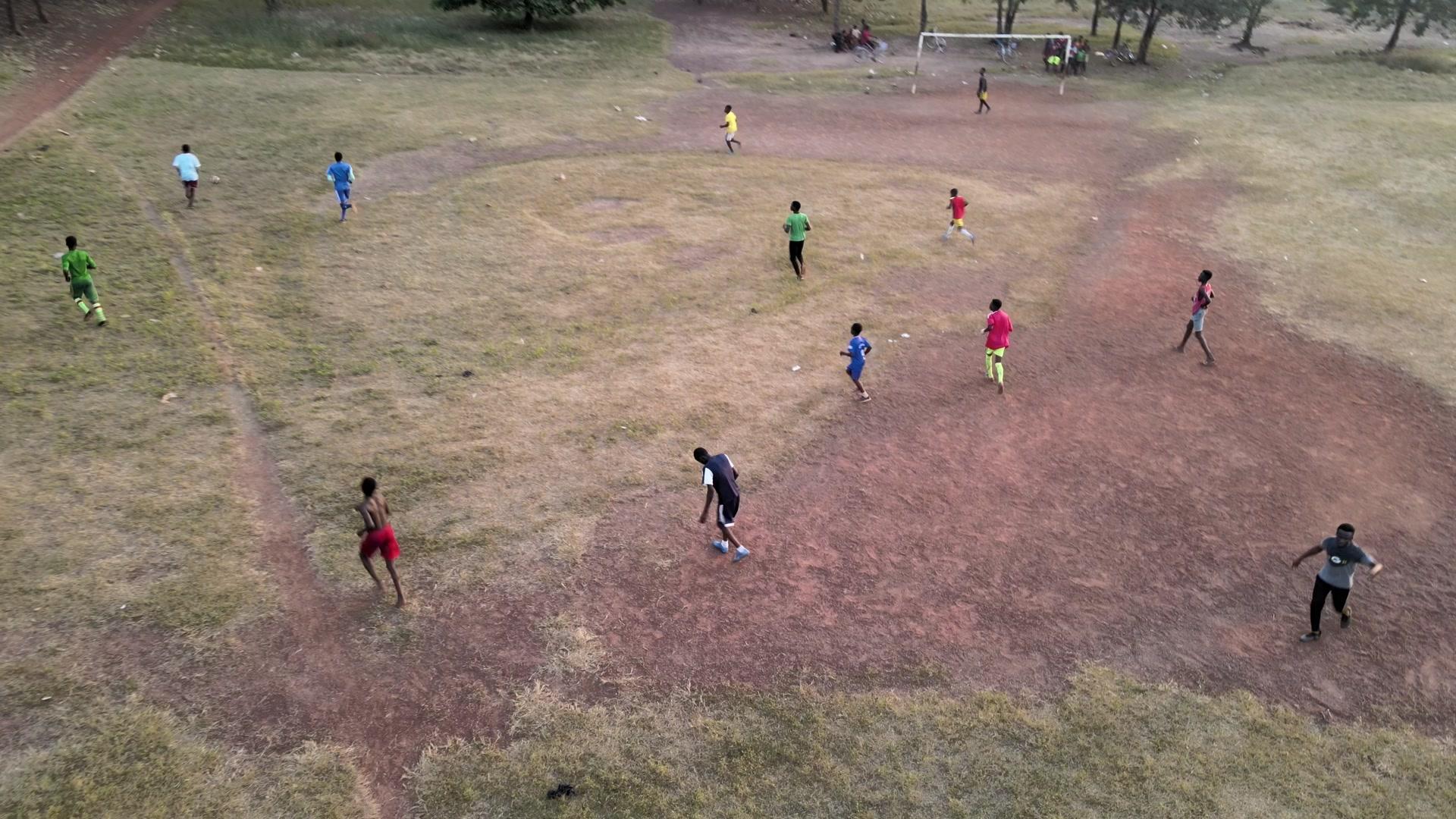 Children Playing Football Park