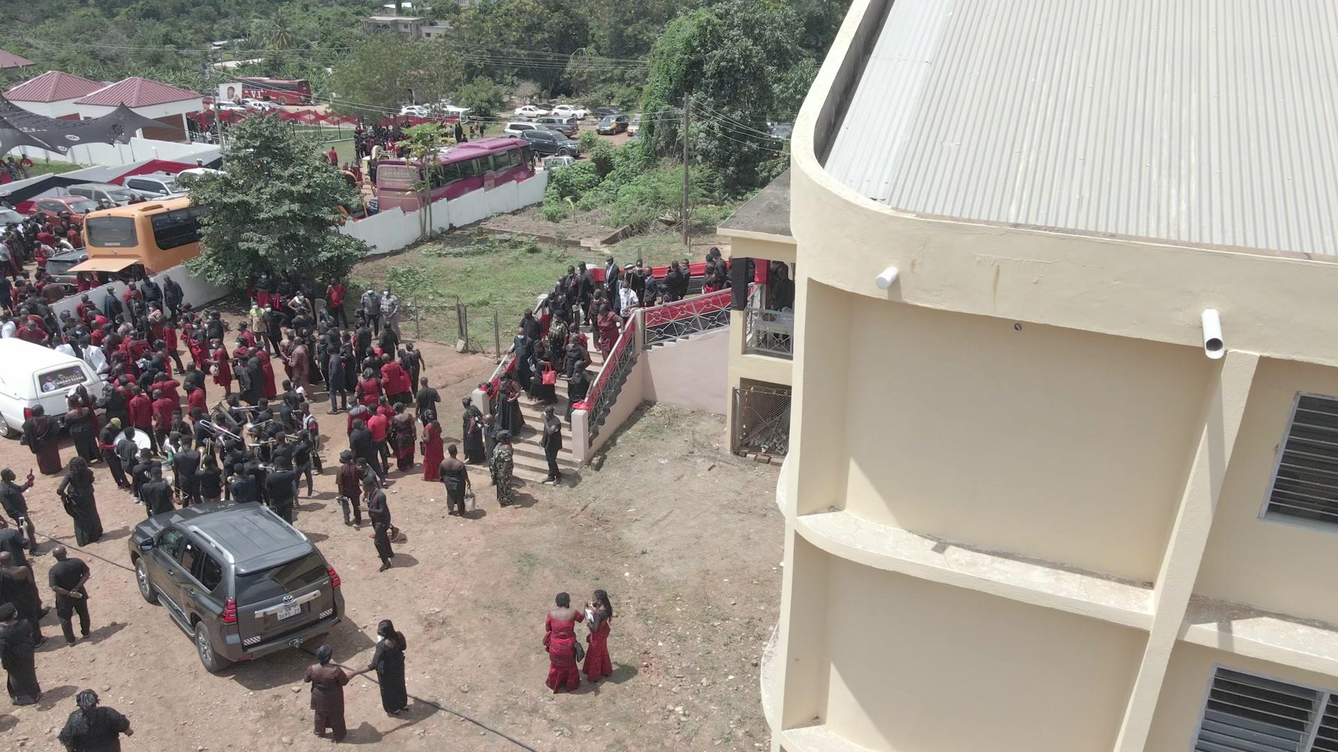 Church Funeral Procession Hearse Paulbearers