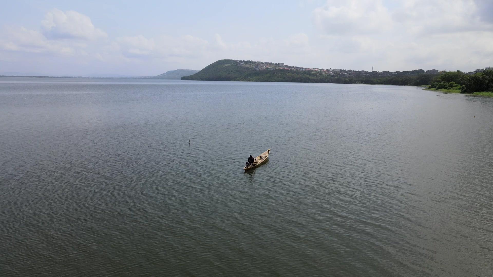 Fishing Fisherman Boat Drifting Lake River