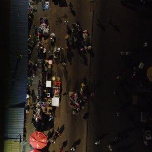 Koforidua Busy Road Crowded Traders Night