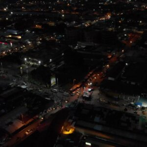 Koforidua Cityscape Night Flyover Scene 3 Fuel Station