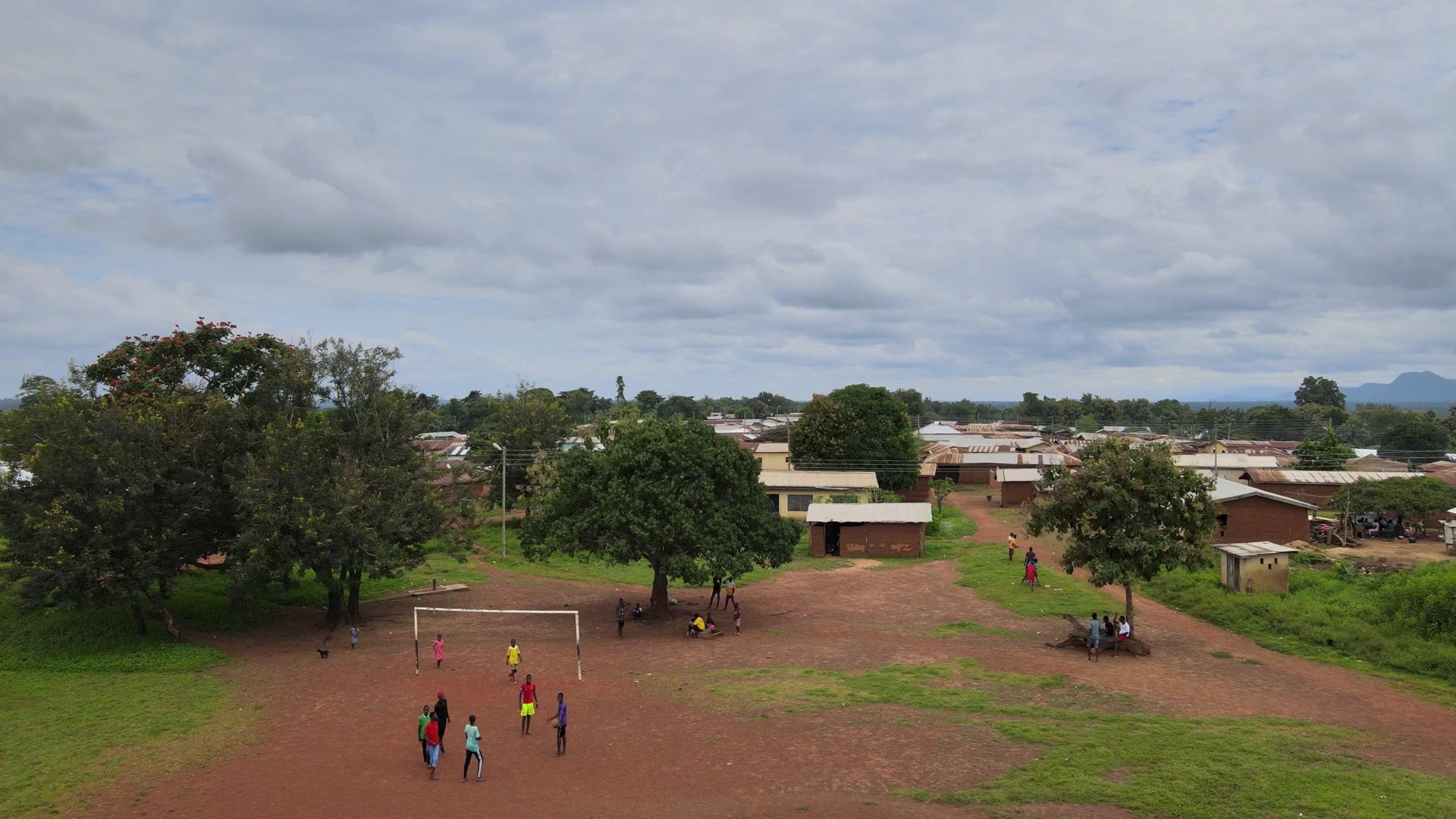 Village Community Settlement Flyover