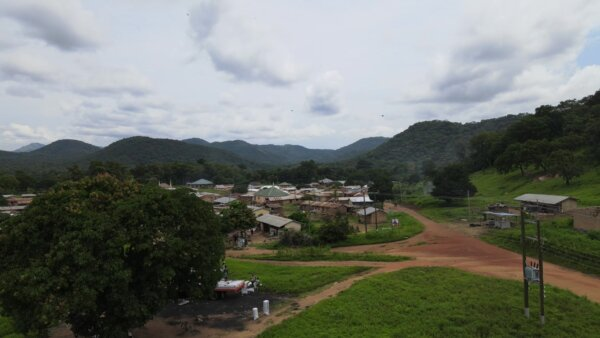 Village Community Settlement Mountains Houses Hills